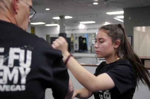 Angelina Punching In Martial Arts Class