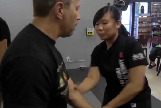 Ron Baliki And Kaitlyn Doing Martial Arts